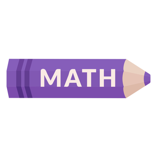 Color pencil school subject math icon Transparent PNG