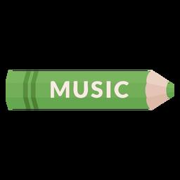 Farbstift Schule Thema Musikikone