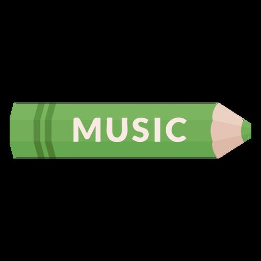 Icono de música de tema escolar lápiz de color Transparent PNG