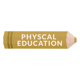 Color pencil school subject phys ed icon