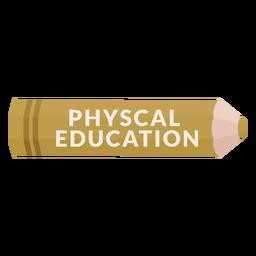 Lápiz de color tema de la escuela icono de educación física