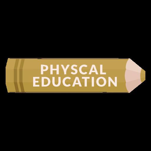 Icono de educación física de la materia escolar de lápiz de color