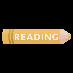 Icono de lectura de materia escolar de lápiz de color