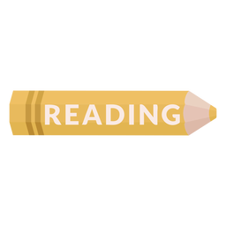 Icono de lectura de materia escolar lápiz de color