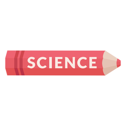 Ícone de ciência da matéria escolar de lápis de cor