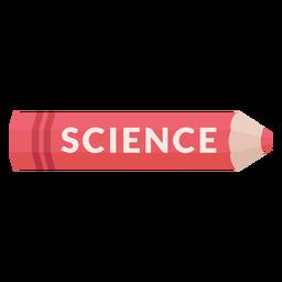 Icono de ciencia de materia escolar de lápiz de color