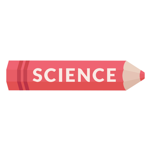 Color pencil school subject science icon Transparent PNG