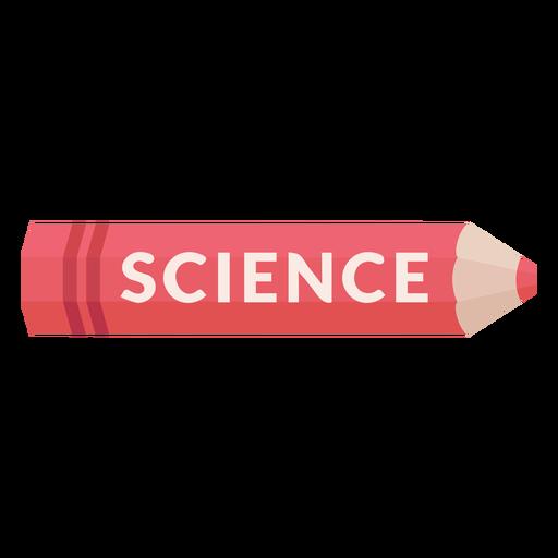 Lápiz de color icono de ciencia de materia escolar Transparent PNG