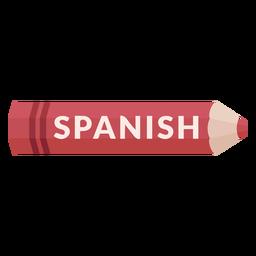 Lápis de cor escola assunto espanhol ícone