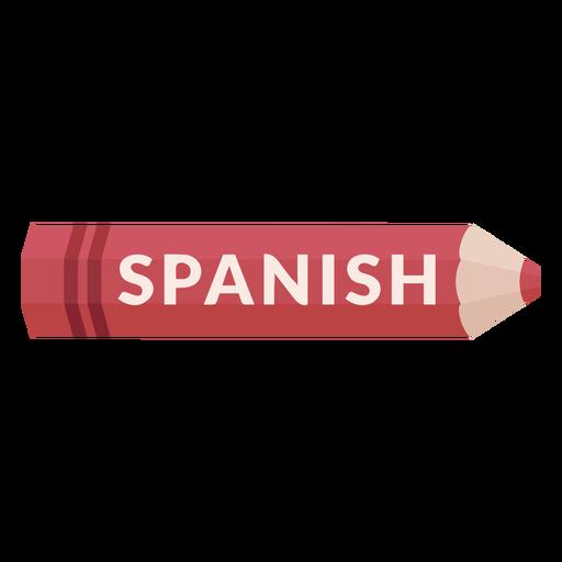 Ícone de matéria escolar de lápis de cor em espanhol