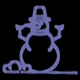 Bufanda linda del sombrero del muñeco de nieve