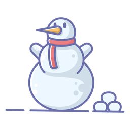 Bufanda linda muñeco de nieve roja