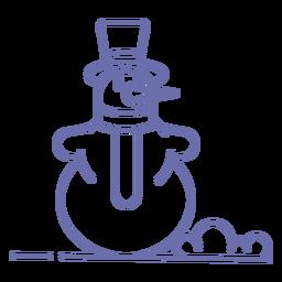 Lindo muñeco de nieve sombrero de bufanda