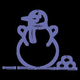 Esquema de bufanda lindo muñeco de nieve
