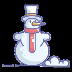Muñeco de nieve lindo sombrero blanco bufanda roja
