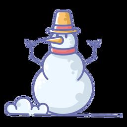 Lindo muñeco de nieve sombrero amarillo