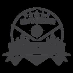 Logotipo de distintivo de parceiro de caça favorito do pai