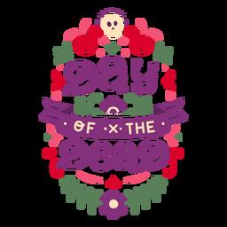 Composición floral del día de los muertos