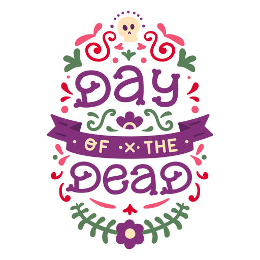 Day of the dead composition floral Transparent PNG