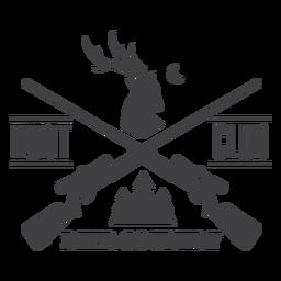 Logotipo de insignia de club de caza de ciervos country