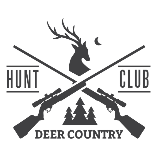 Deer country hunting club badge logo Transparent PNG