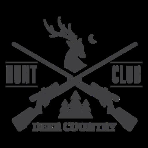 Logotipo de la insignia del club de caza del país de los ciervos Transparent PNG