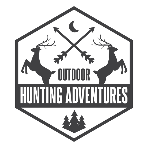 Deer outdoor hunting adventure badge logo Transparent PNG