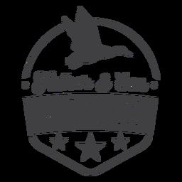 Logotipo de insignia de padre hijo club de caza