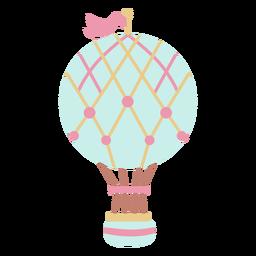 Bandeira líquido azul balão de ar quente