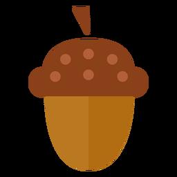 Flat acorn symbol