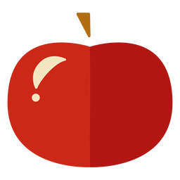 Flat apple icon apple