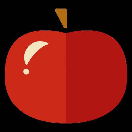 Icono de manzana plana manzana