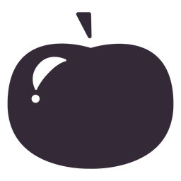 Flat apple icon stencil