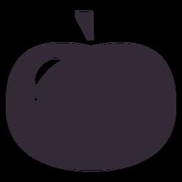 Flat apple icon stencil