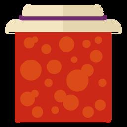 Símbolo de tarro de mermelada plana