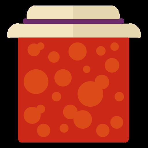 Símbolo de tarro de mermelada plana Transparent PNG