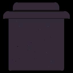 Flat jam jar symbol stencil