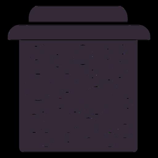 Plantilla de s?mbolo de tarro de mermelada plana