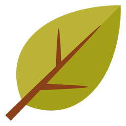 Flat leaf symbol