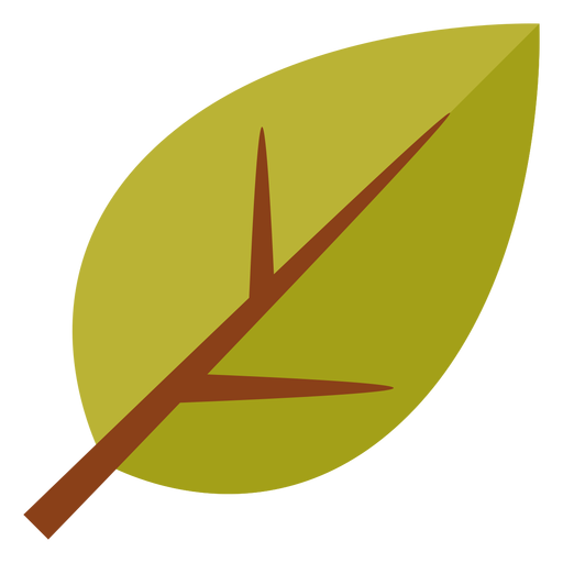 Flat leaf symbol Transparent PNG