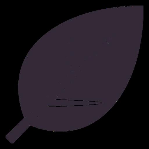 Flat leaf symbol stencil