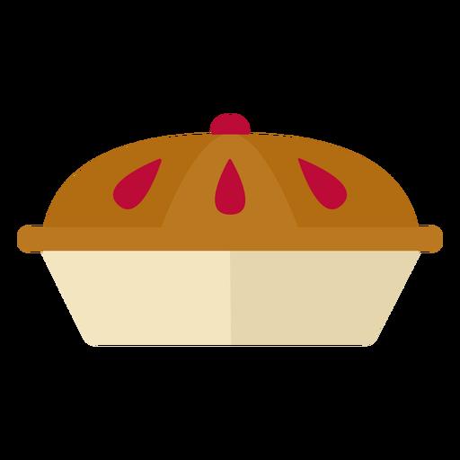 S?mbolo de pastel plano