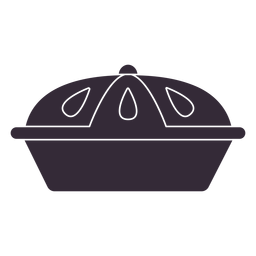 Plantilla de símbolo de pastel plano