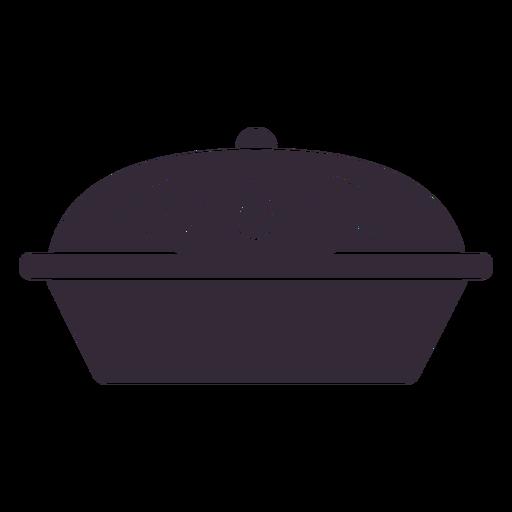 Flat pie symbol stencil