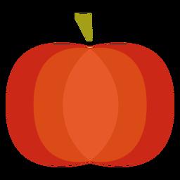Flat pumpkin symbol