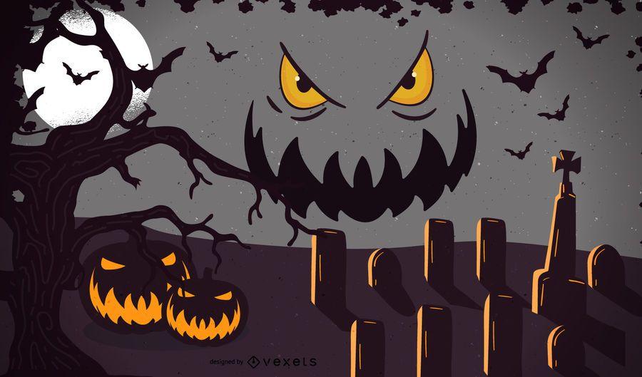 Vektor-Halloween-Vorlage