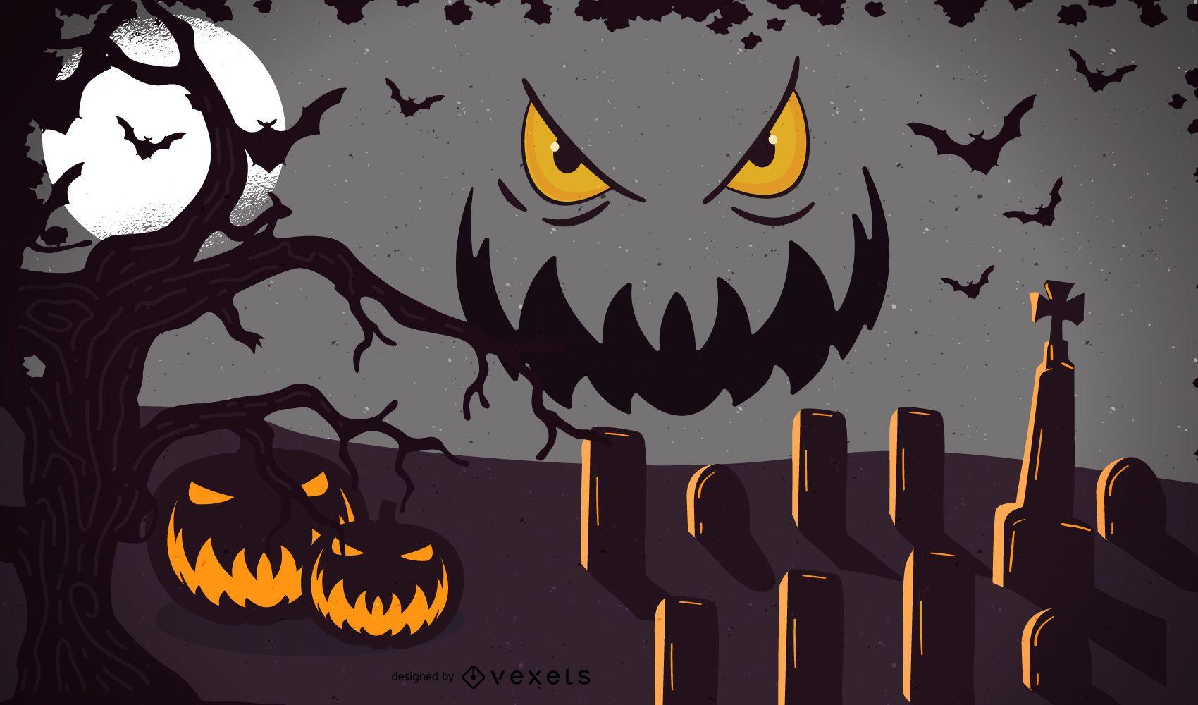 Vector plantilla de Halloween