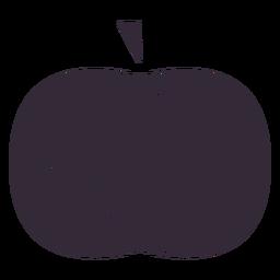 Flat pumpkin symbol stencil