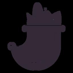 Plantilla de símbolo de cornucopia de acción de gracias plana