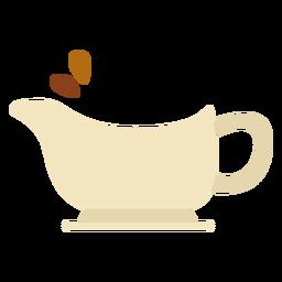 Símbolo de bote de salsa de acción de gracias plana